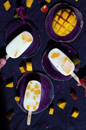 Yaour Glacé sur bâtonnet, fruits frais, fait main, artisanal